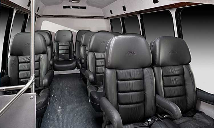 Houston Limo Service - 18 Passengers Corporate Limo Bus - Inside
